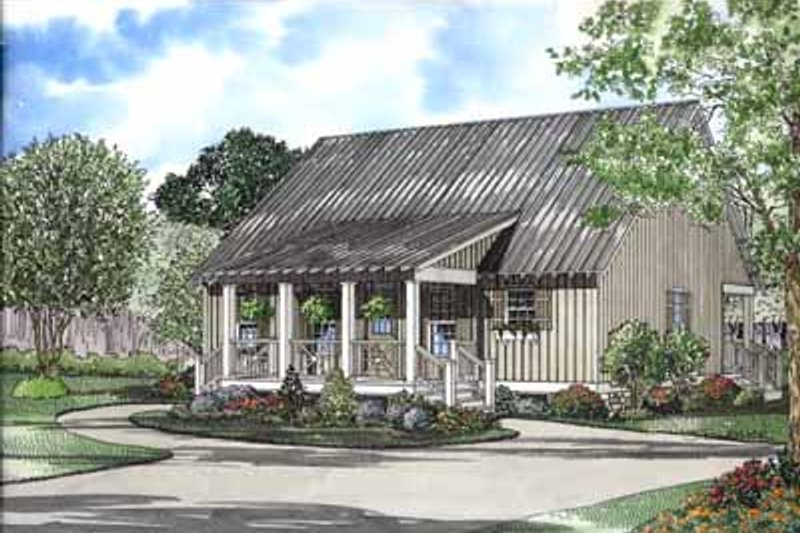 Bungalow Style House Plan - 4 Beds 2 Baths 1458 Sq/Ft Plan #17-547