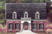 Colonial Style House Plan - 4 Beds 3 Baths 2922 Sq/Ft Plan #119-208 Exterior - Front Elevation