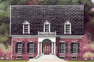 Colonial Exterior - Front Elevation Plan #119-208
