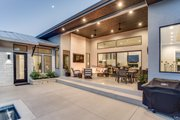 Contemporary Style House Plan - 4 Beds 4 Baths 3349 Sq/Ft Plan #935-14 Exterior - Outdoor Living