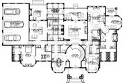 Colonial Style House Plan - 4 Beds 4 Baths 6129 Sq/Ft Plan #63-411 Floor Plan - Main Floor Plan