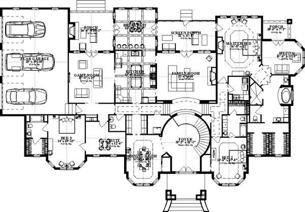 Colonial Floor Plan - Main Floor Plan Plan #63-411