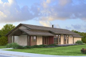 Ranch Exterior - Front Elevation Plan #124-983