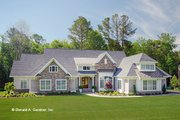Craftsman Style House Plan - 4 Beds 4 Baths 3200 Sq/Ft Plan #929-898 Exterior - Front Elevation