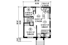 Contemporary Floor Plan - Main Floor Plan Plan #25-4268