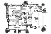 Country Style House Plan - 4 Beds 2.5 Baths 2118 Sq/Ft Plan #310-611 Floor Plan - Main Floor
