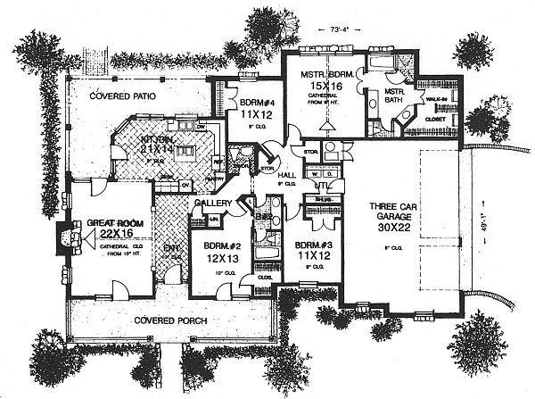 Country Floor Plan - Main Floor Plan #310-611