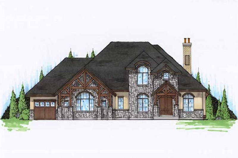 Home Plan - European Exterior - Front Elevation Plan #5-401