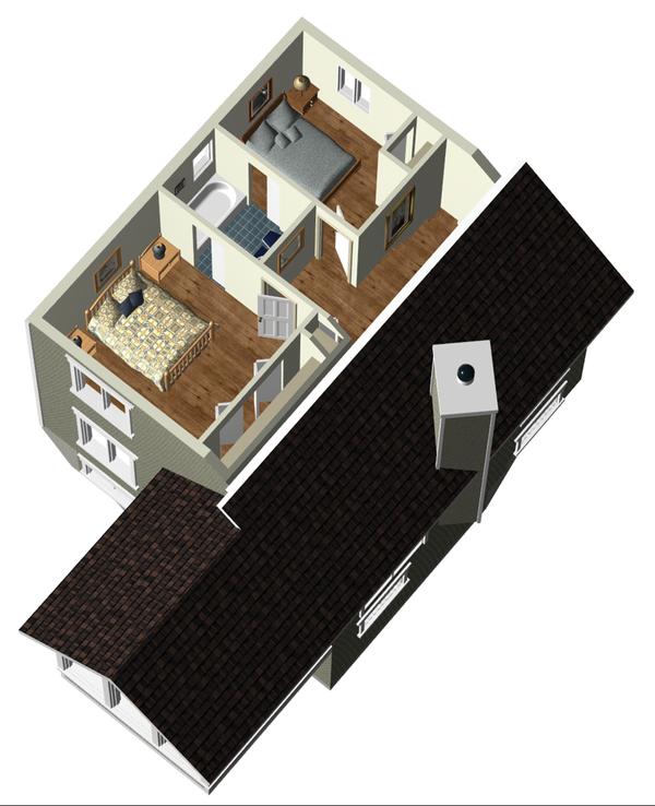 Country Floor Plan - Upper Floor Plan Plan #25-4746