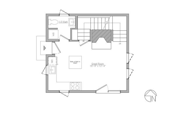 Modern Floor Plan - Main Floor Plan Plan #914-3