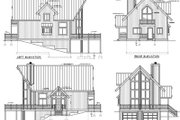 Modern Style House Plan - 2 Beds 2 Baths 1472 Sq/Ft Plan #100-452 Exterior - Rear Elevation