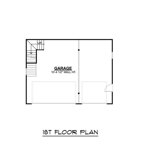 Country Floor Plan - Main Floor Plan Plan #1064-58