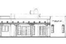 Adobe / Southwestern Exterior - Rear Elevation Plan #72-127