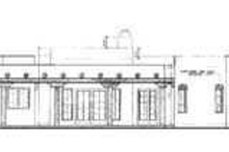 Adobe / Southwestern Exterior - Rear Elevation Plan #72-127 - Houseplans.com