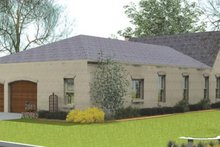 Dream House Plan - European Exterior - Rear Elevation Plan #406-9615