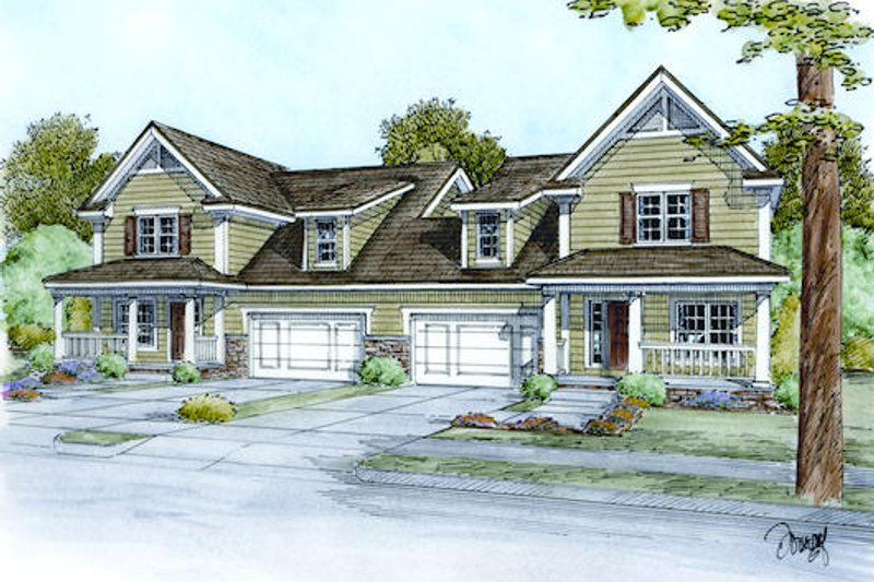 Architectural House Design - Traditional Exterior - Front Elevation Plan #20-2138