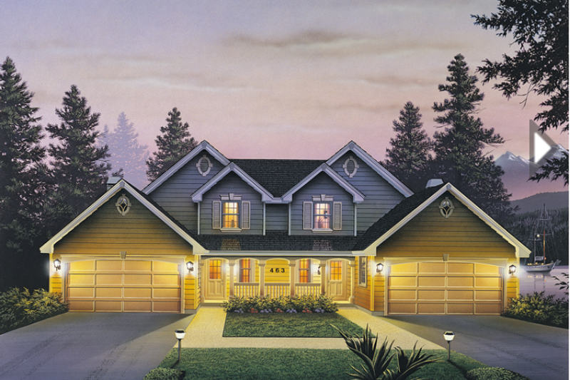 Home Plan - Country Exterior - Front Elevation Plan #57-633