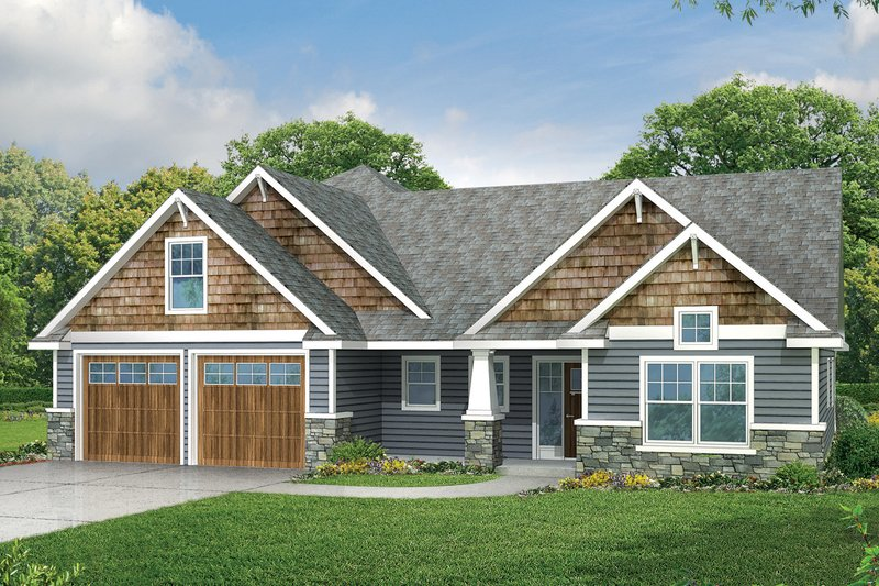 Craftsman Exterior - Front Elevation Plan #124-949 - Houseplans.com