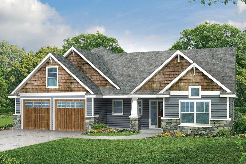Home Plan - Craftsman Exterior - Front Elevation Plan #124-949
