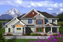 Home Plan Design - Craftsman Exterior - Front Elevation Plan #70-1125