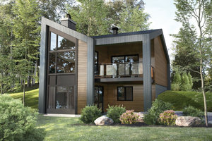 Cottage Exterior - Front Elevation Plan #25-4926
