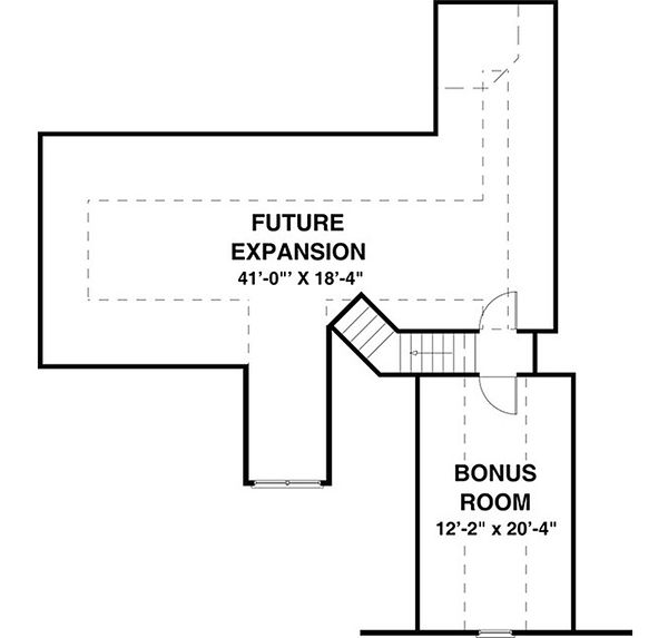 Traditional Floor Plan - Upper Floor Plan Plan #56-635
