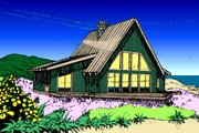 Modern Style House Plan - 3 Beds 2 Baths 1834 Sq/Ft Plan #60-108 Exterior - Front Elevation