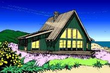 Dream House Plan - Modern Exterior - Front Elevation Plan #60-108
