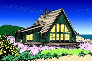 Modern Exterior - Front Elevation Plan #60-108