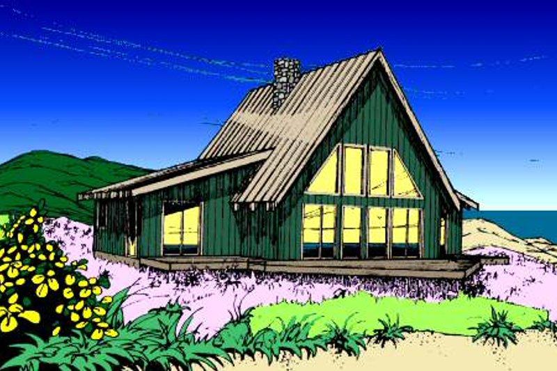 Modern Exterior - Front Elevation Plan #60-108 - Houseplans.com