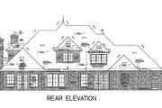 European Style House Plan - 5 Beds 5.5 Baths 4263 Sq/Ft Plan #310-671 Exterior - Rear Elevation