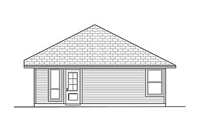 Cottage Exterior - Rear Elevation Plan #84-448 - Houseplans.com
