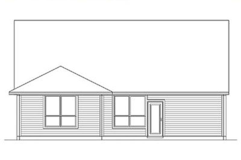 Craftsman Exterior - Rear Elevation Plan #84-264 - Houseplans.com