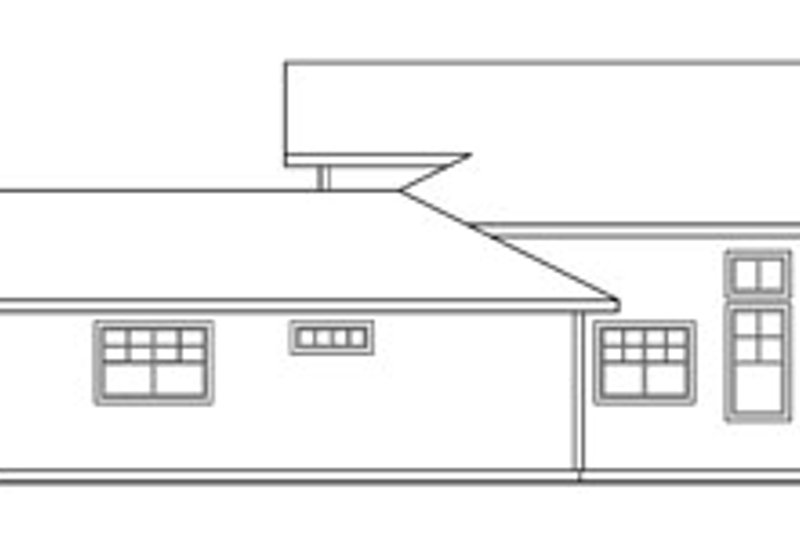 Ranch Exterior - Other Elevation Plan #124-218 - Houseplans.com