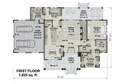 Farmhouse Style House Plan - 4 Beds 3.5 Baths 2925 Sq/Ft Plan #51-1162