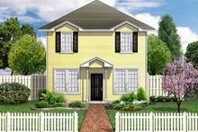 House Plan Design - Colonial Exterior - Front Elevation Plan #84-113