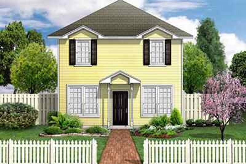 Colonial Style House Plan - 3 Beds 2.5 Baths 1568 Sq/Ft Plan #84-113 Exterior - Front Elevation