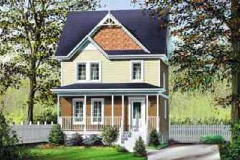 Victorian Style House Plan - 3 Beds 1.5 Baths 1152 Sq/Ft Plan #25-290 Exterior - Front Elevation