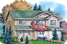 House Blueprint - Traditional Exterior - Front Elevation Plan #18-270