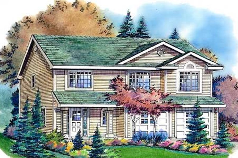 Traditional Exterior - Front Elevation Plan #18-270 - Houseplans.com