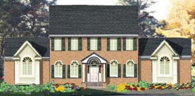Colonial Exterior - Front Elevation Plan #3-184