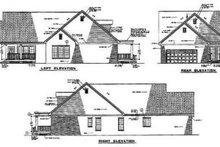 House Plan Design - Farmhouse Exterior - Rear Elevation Plan #17-418
