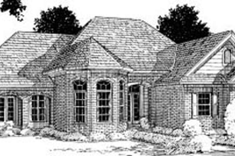 Traditional Exterior - Front Elevation Plan #20-196 - Houseplans.com