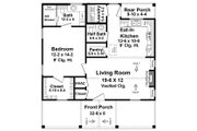 Country Style House Plan - 1 Beds 1.5 Baths 872 Sq/Ft Plan #21-464