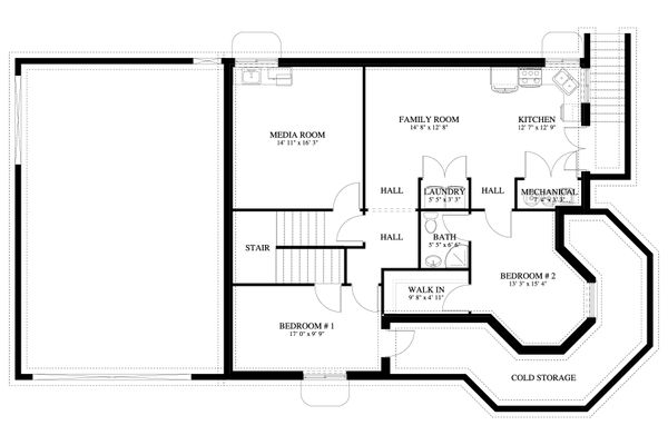 Victorian Floor Plan - Lower Floor Plan Plan #1060-51