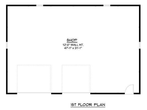 Country Floor Plan - Main Floor Plan Plan #1064-54