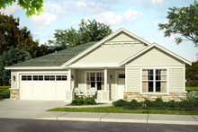 Dream House Plan - Traditional Exterior - Front Elevation Plan #124-1017