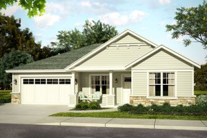 Home Plan - Traditional Exterior - Front Elevation Plan #124-1017