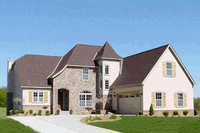 European Style House Plan - 4 Beds 3 Baths 2587 Sq/Ft Plan #20-321 Photo