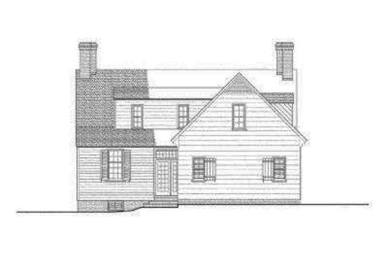 Colonial Exterior - Rear Elevation Plan #137-201 - Houseplans.com